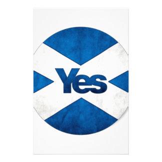 Sí a Escocia independiente 'Saor Alba va Bragh Papeleria De Diseño
