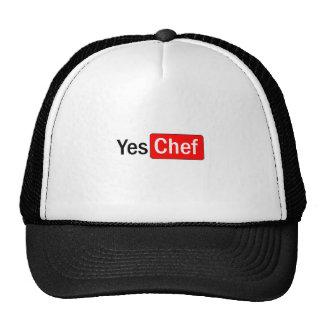 Sí cocinero gorras de camionero