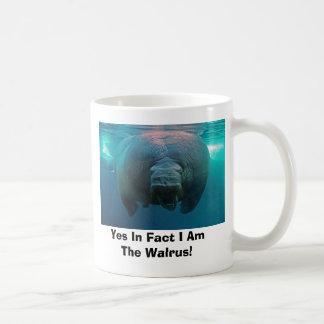 ¡Sí de hecho soy la morsa! Taza De Café