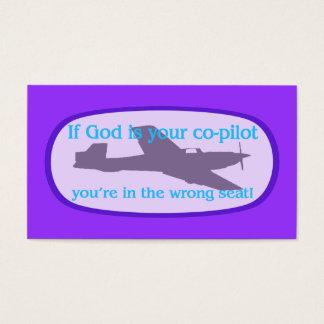 Si dios es sus del copiloto de la zona tarjetas/ tarjeta de negocios