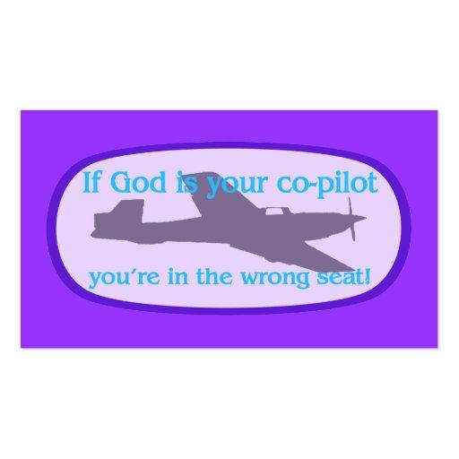 Si dios es sus del copiloto de la zona tarjetas/ tarjeta personal