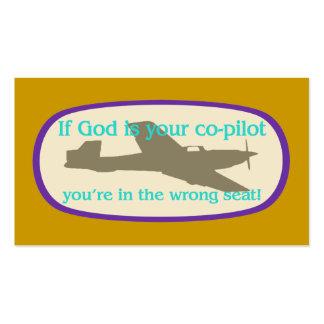 Si dios es sus del copiloto de la zona tarjetas/ tarjeta de negocio