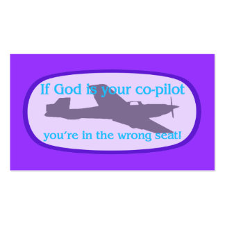 Si dios es sus del copiloto de la zona tarjetas/ tarjetas de visita