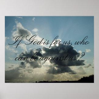 ¿Si dios está para nosotros, que pueden estar cont Póster