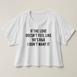 Si el amor no siente como la camisa de los años 90