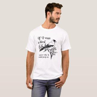 Si era una camiseta divertida del pájaro