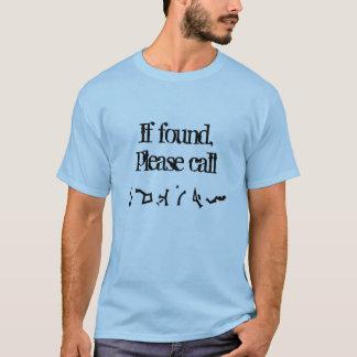Si está encontrado, llame por favor la camisa (de