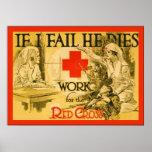 Si fallo él muere poster de la enfermera WW1 del v