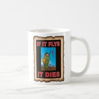 SI FLYS ÉL MUERE azul Taza De Café