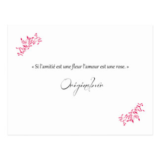 Si la amistad es una flor el amor es una rosa postal