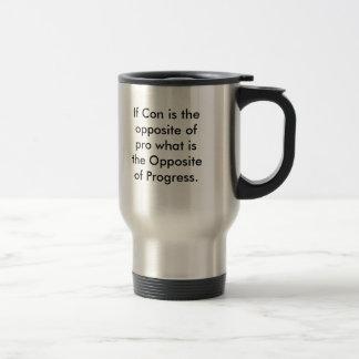 Si la estafa es el contrario de favorable taza de viaje de acero inoxidable