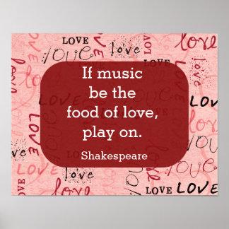 Si la música sea la cita de comida-Shakespeare - Póster