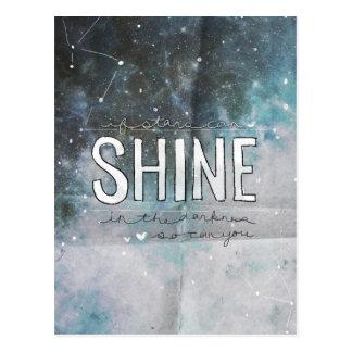 Si las estrellas brillan en la oscuridad inspirada postal