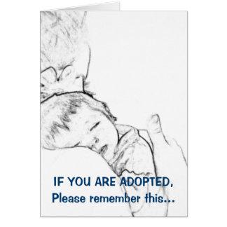 Si le adoptan, recuerde por favor esto… tarjeta de felicitación