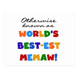 Si no conocido como camisetas del Mejor-est Memaw Postal
