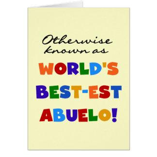 Si no conocido como Mejor-est Abuelo Tarjetón