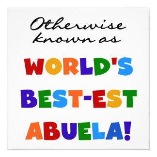 Si no conocido como regalos del Mejor-est Abuela Comunicados Personalizados