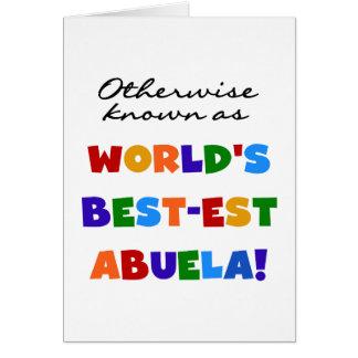 Si no conocido como regalos del Mejor-est Abuela Tarjeta De Felicitación