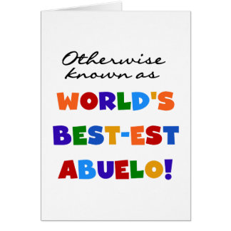 Si no conocido como regalos del Mejor-est Abuelo Felicitación
