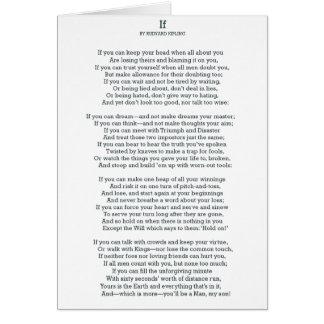 SI poema de Rudyard Kipling Tarjeta De Felicitación