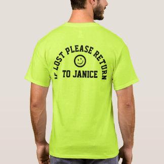 Si por favor perdida camiseta de vuelta del lema