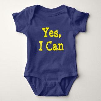 Sí, puedo mono del bebé body para bebé