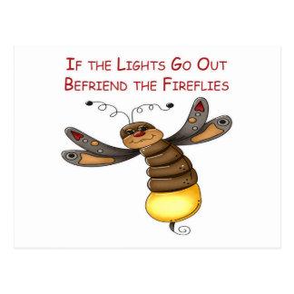 Si salen las luces Befriend las luciérnagas Tarjetas Postales