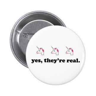 Sí, son unicornio el | divertido real Emoji Chapa Redonda De 5 Cm