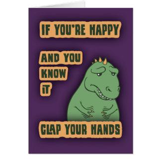 Si sus brazos alcanzan tarjeta de felicitación