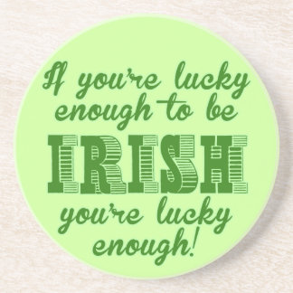 Si usted es bastante afortunado ser irlandés posavasos diseño