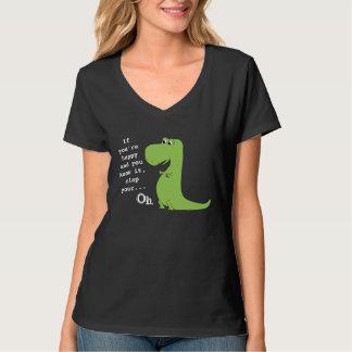 Si usted es feliz aplauda la camiseta divertida