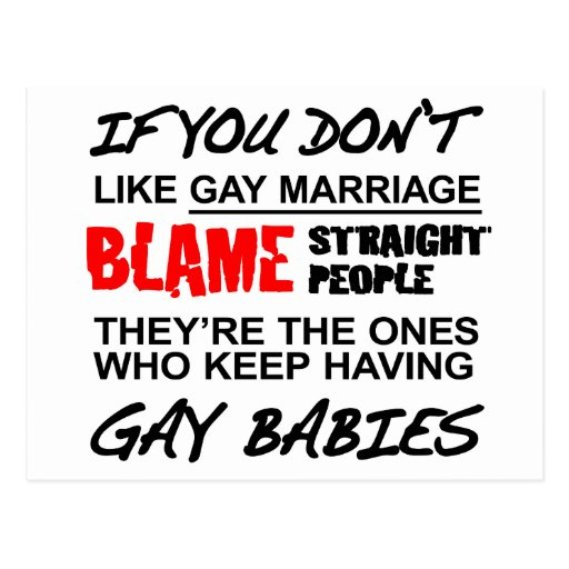 Si usted no hace matrimonio homosexual postal