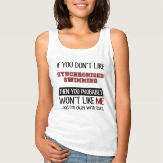 Si usted no tiene gusto de nadar sincronizado camiseta con tirantes