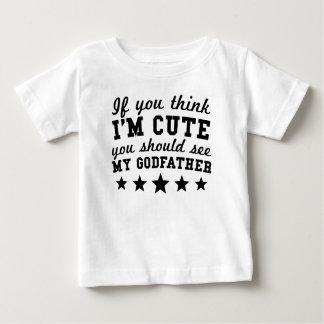 Si usted piensa que soy lindo usted debe ver a mi camiseta de bebé