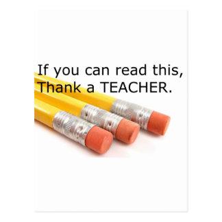 Si usted puede leer esto, agradezca a un profesor postal