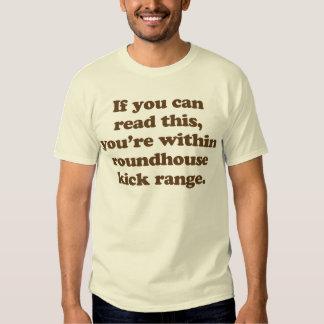 si usted puede leer esto usted está dentro de camisetas