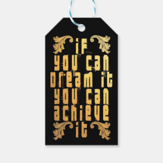 Si usted puede soñarlo usted puede alcanzarlo etiquetas para regalos