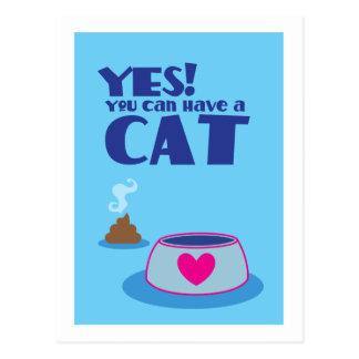 Sí usted puede tener una tarjeta del gato postal