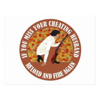 Si usted Srta. Your Cheating Husband, recarga y fu Tarjeta Postal