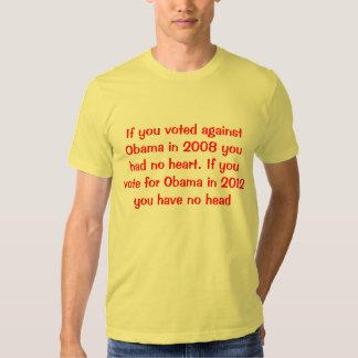 """""""Si usted votó contra Obama en 2008 usted no tenía Camisetas"""