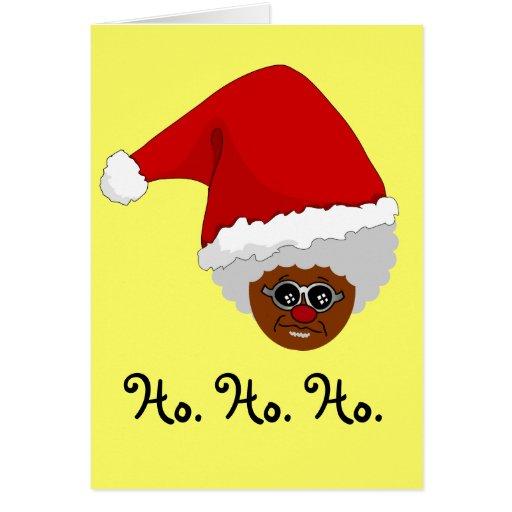 Sí, Virginia, hay un Papá Noel negro Felicitacion