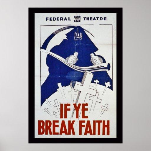 Si YE rompe la fe Posters