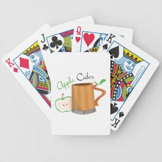 Sidra de Apple Baraja Cartas De Poker