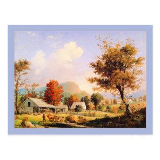 Sidra de George Henry Durrie que presiona otoño Postal