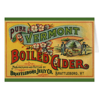 Sidra hervida jalea de Brattleboro de Vermont Tarjeta De Felicitación