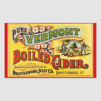 Sidra hervida Vermont pura Labl viejo del vintage Rectangular Altavoces