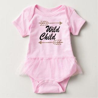 Sie salvaje del niño uno body para bebé