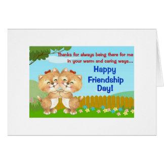 Siempre allí tarjeta de la amistad