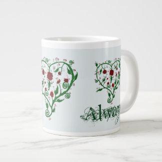 Siempre amor taza de café gigante