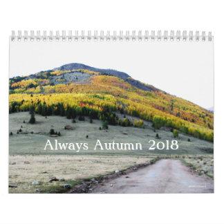 Siempre calendario del otoño 2018 por el pennysart